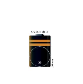 4/5 SubC 2000mAh Panasonic
