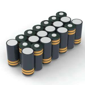 Battery pack 24 volt NiCd custom made rechthoek