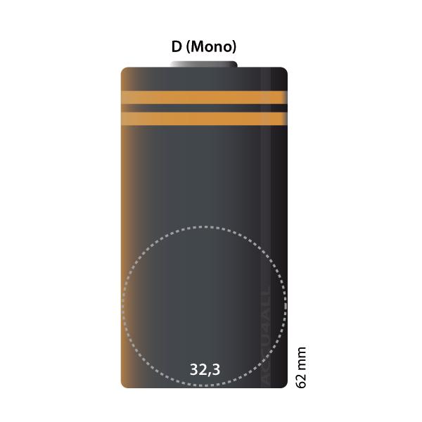 D-Cel  (Ø x h) 33 mm x 60.5 mm