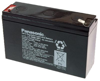 Accu 6V 12Ah Panasonic LC-R0612P1 Loodaccu - AGM