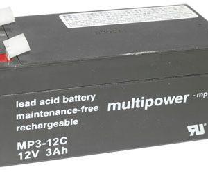 Multipower mp3-12c MPC Cyclische Loodaccu - AGM 12V 3Ah