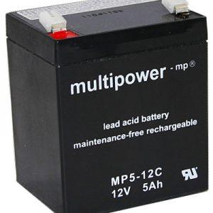 Multipower MPC Zyklen  Loodaccu - AGM  12 Volt  MP5-12C