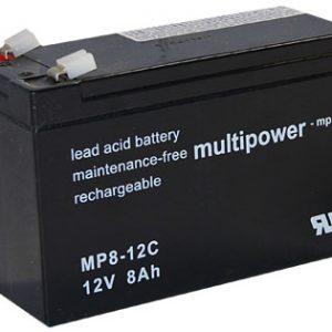Multipower MPC Zyklen  Loodaccu - AGM  12 Volt  MP8-12C