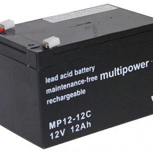 Multipower MP12-12C MPC Cyclische Loodaccu - AGM 12V 12Ah