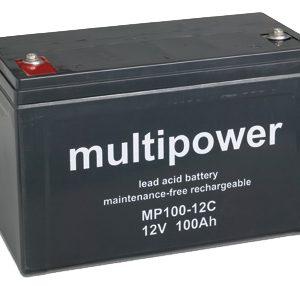 Multipower MPC Zyklen  Loodaccu - AGM  12 Volt  MP100-12C