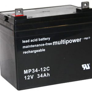 Multipower MP34-12C MPC Cyclische Loodaccu - AGM 12V 34Ah