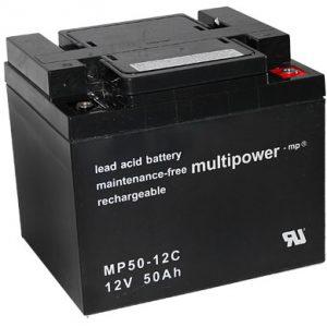 Multipower MP50-12C MPC Cyclische Loodaccu - AGM 12V 50Ah