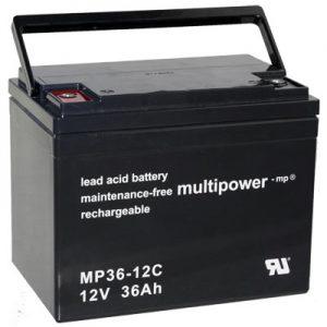 Multipower MP36-12C MPC Zyklen  Loodaccu - AGM  12 Volt  MP36-12C