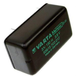 Varta Knoopcel accu 3,6 Volt  MEMPAC 3/V150H